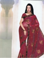 Red Saree Party wear